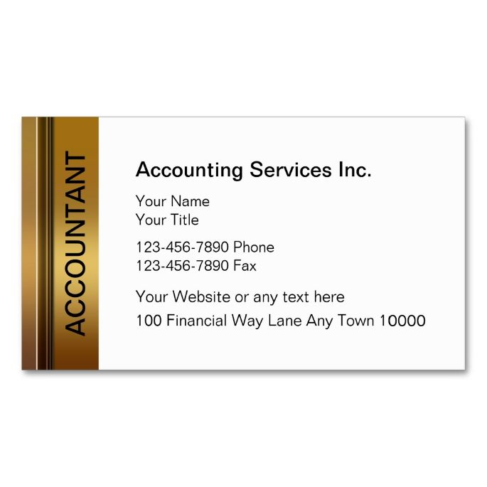 1996 best images about accountant business cards on for Cpa business card examples