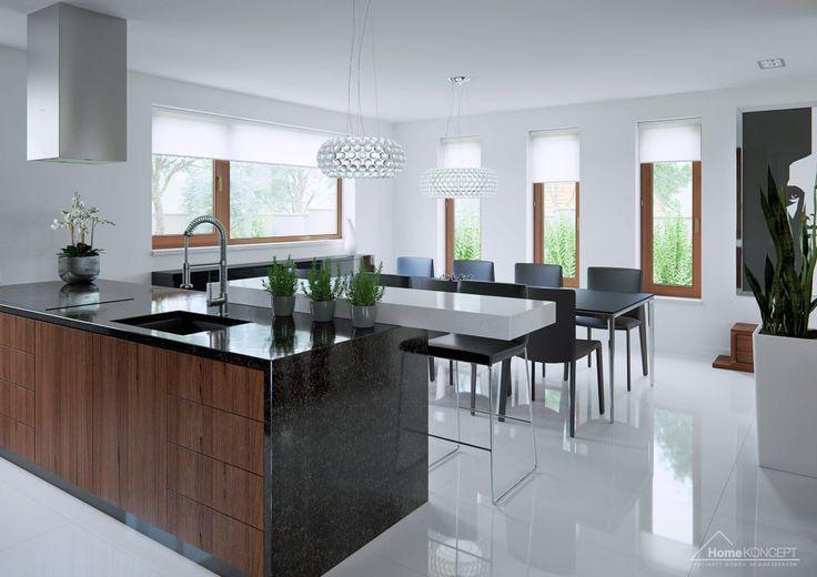 Buscá imágenes de diseños de Cocinas estilo moderno de HomeKONCEPT | Projekty Domów Nowoczesnych. Encontrá las mejores fotos para inspirarte y creá tu hogar perfecto.