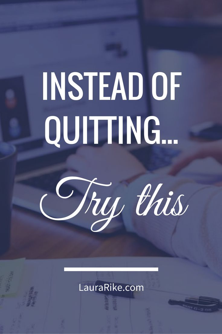 As an entrepreneur, things will not always be peaches and cream. The reality is, there are times we all consider quitting. Quitting isn't always a bad choice. We've been taught to believe that quitting is synonymous with failure, but some activities or relationships aren't worth continuing. Read more: https://envizionadvertising.com/avoid-quitting-instead-of-quitting-try-this/
