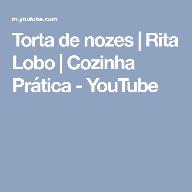 Torta de nozes   Rita Lobo   Cozinha Prática - YouTube