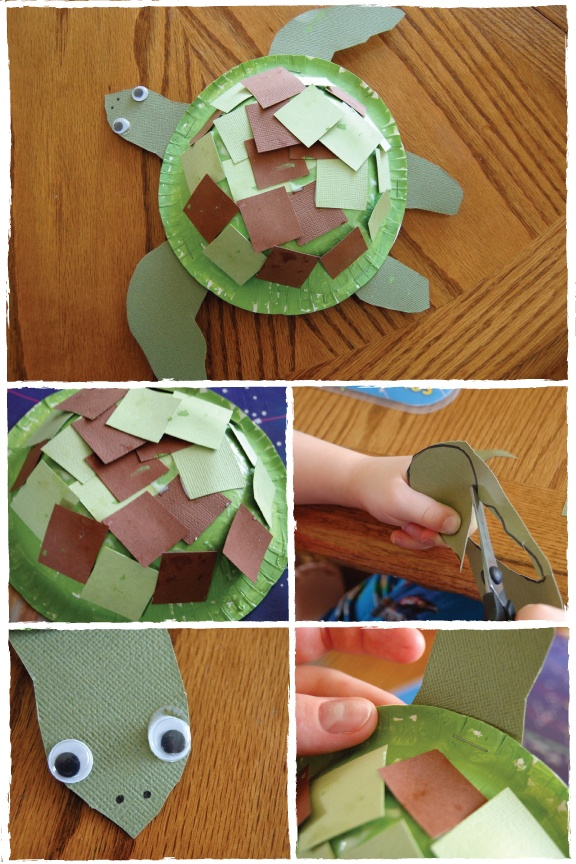 Sea Turtle Paper Bowl Craft! All you'll need is: -small paper bowl -small paper plate -green paint (or markers/crayons) -paint brush -green and brown paper -scissors -glue -stapler -black marker -wiggly eyes Check out Sun Scholar for detailed instructions! http://www.sunscholars.com/2011/09/sea-turtle-craft.html
