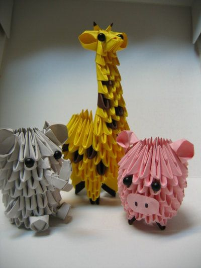 ELEPHANT, GIRAFFE, AND PIGGY!!!!!!!!!!!!! Had a commission of these animals. Took me forever to figure out how to make the giraffe and elephant. The pig was actually pretty easy. Kudos to another p...