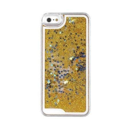 Coque Liquide Paillette jaune iPhone 5c