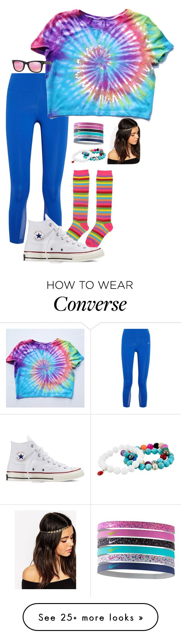 """Homecoming 2k15:Decade Day"" by morgzz-07 on Polyvore featuring NIKE, Converse, ASOS, Dee Berkley and Ray-Ban"
