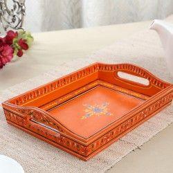 Kushalam Hand Painted  Wooden Tray