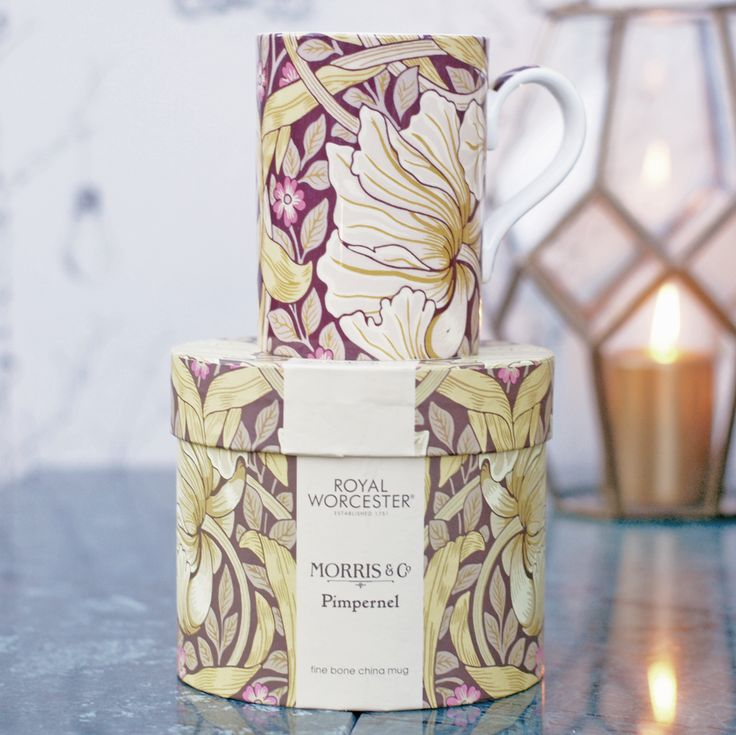 William Morris mugg Pimpernel färg Fig från http://www.countrystyle.se