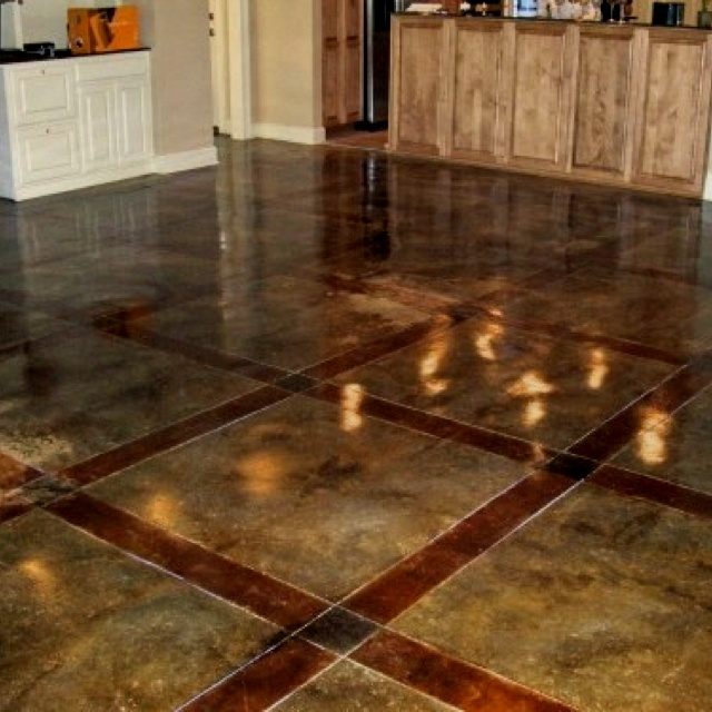 Fancy Acid Washed Concrete Forget Tile Or Stone Floors