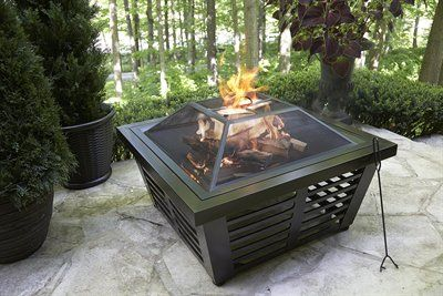 Pleasant Hearth 33.98-in Wenge Steel Wood-Burning Fire Pit