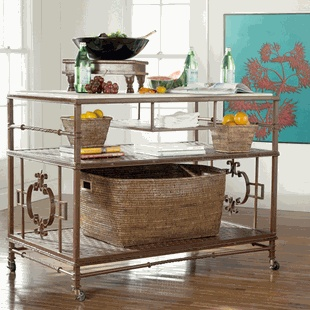 This Is A Rolling Kitchen Island Actually But It Looks