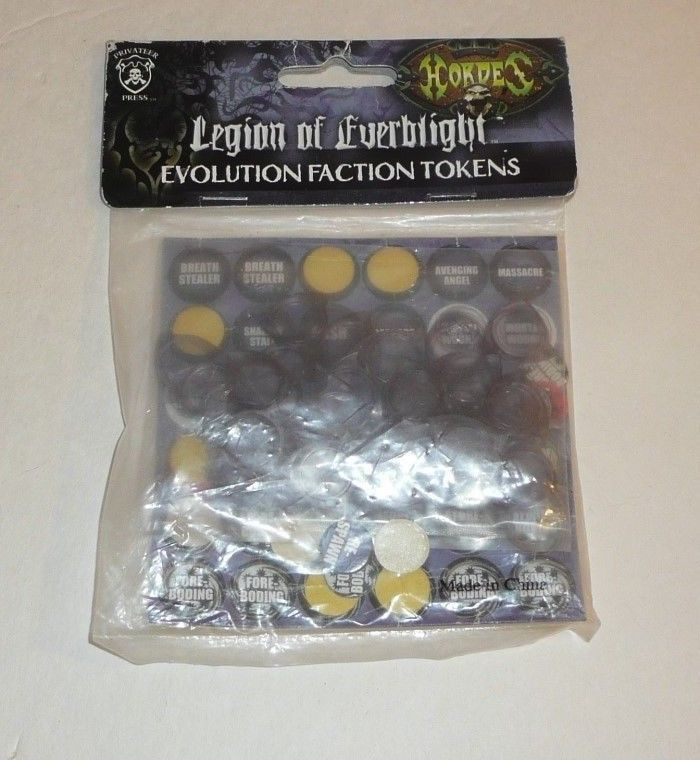 Hordes Legion of Everblight Evolution Faction Tokens Privateer Press RPG Chits  #PrivateerPress