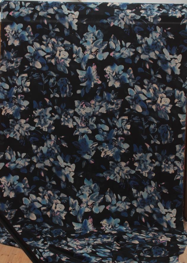 Ткани 2015 летний стиль 100% шелковый креп-крепдешин отличный вкус чернила 1.15 м широкий ткань пэчворк ( 1 м )