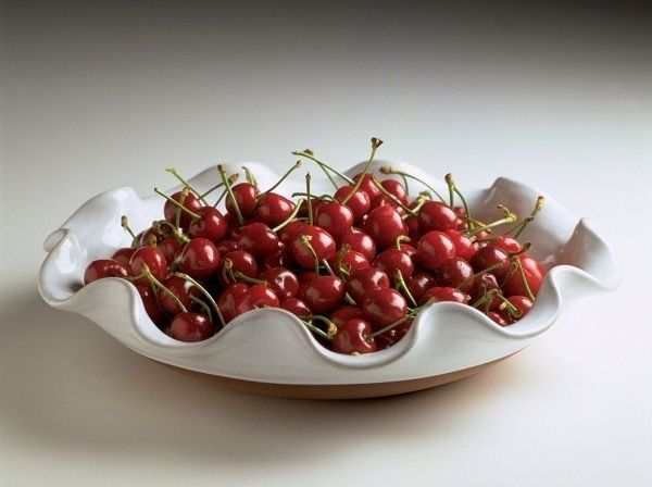 Cherries and Classic Curly Salad. Stephen Pearce Pottery.