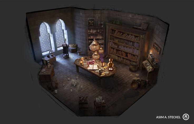 Alchemy lab, Asim Steckel on ArtStation at https://www.artstation.com/artwork/1BnZG?utm_campaign=notify&utm_medium=email&utm_source=notifications_mailer