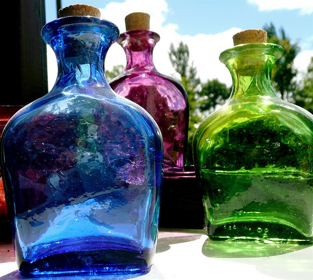 dyed patron bottles...start collecting ladies