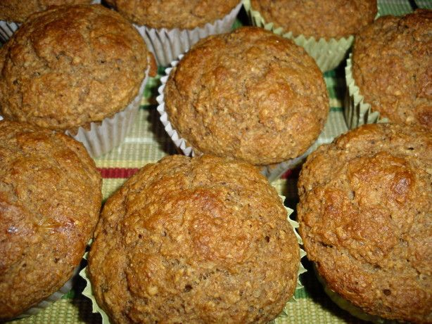 I got this from a Weight Watcher meeting. If made as shown, 1 mini-muffin is 0 points; full-sized muffins are 3 points, They are tasty, have a great texture, and smell wonderful when baking. There is no need to use muffin liners; these just slide right out of the pan. I know there are a ton of bran muffin recipes; I think the flax sees in this recipe makes it uniqe.