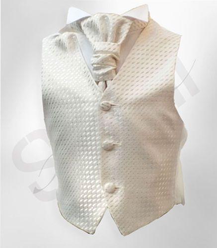 Page-Boys-Cream-Ivory-Waistcoat-Cravat-and-Hanky-Set-Boys-Wedding-Waistcoats