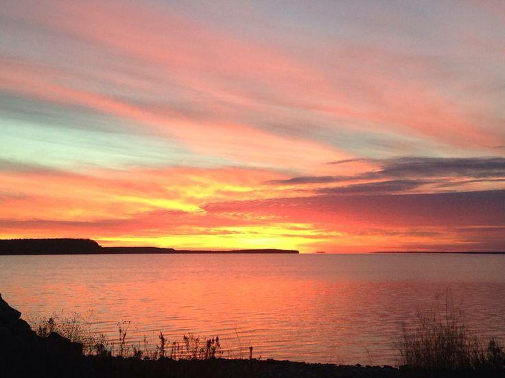 Door County Summer Sunset over the bay. | Door County ...