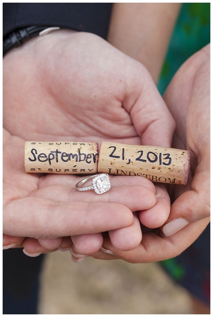 Super cute Save-the-Date idea! (www.7centerpieces.com/wine-inspired-engagement-by-simply-love/) | Simply Love Photography (simplylovephotography.com)