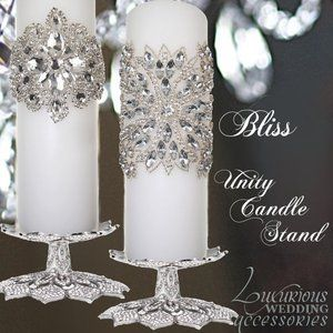 Image of Bliss Swarovski Crystal Unity Candle Holder