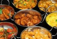Curry, rice, chapatis, poppadums, naan bread, onion bhajis....the list is endless. Give it all to me now...now!!!