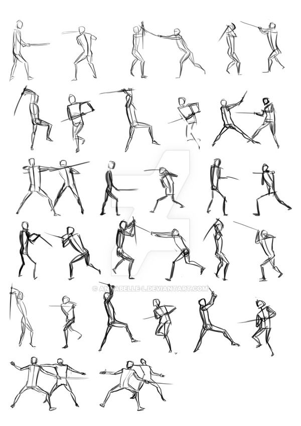 Sword Fighting Poses by annabelle-l.deviantart.com on @DeviantArt