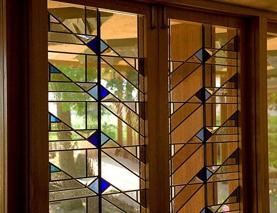 Custom Made Frank Lloyd Wright House doors by Arthur Stern Studios | CustomMade.com