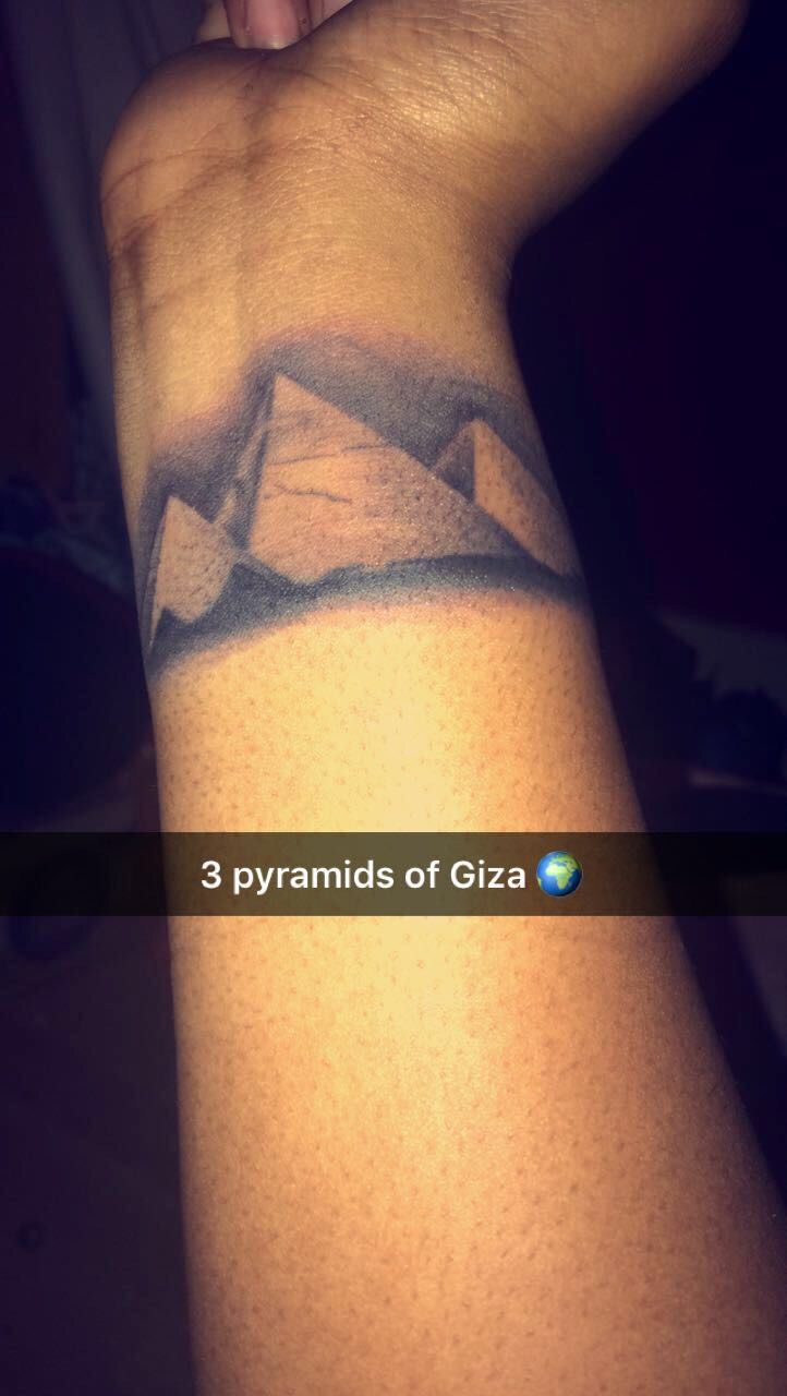 3 pyramids of Giza- wrist tattoo