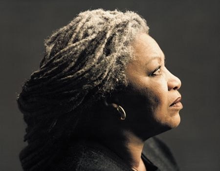 Toni Morrison is just awesome--eloquent, regal, an amazing writer...