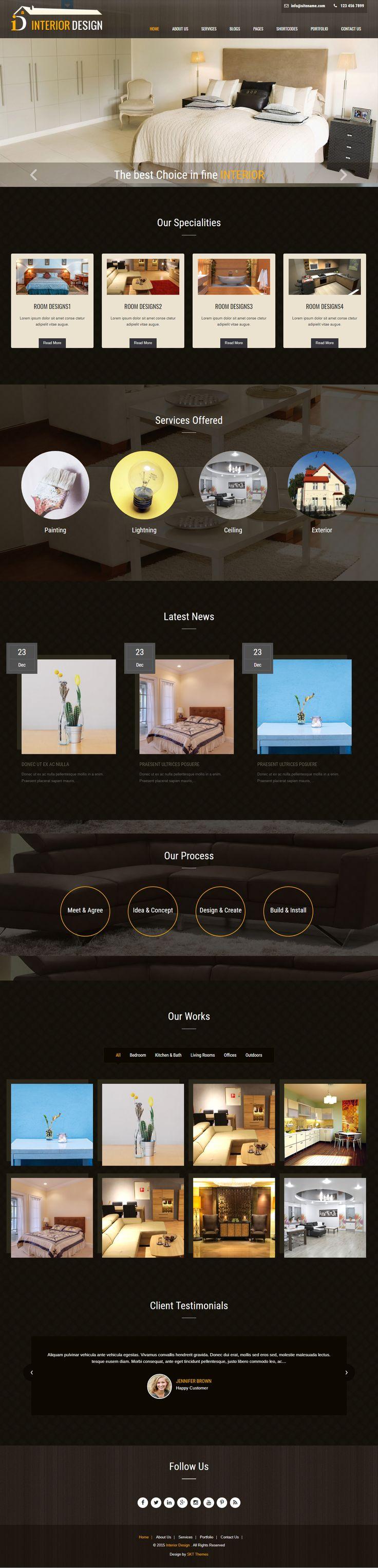 Free Interior Design WordPress Theme for Interior Architecture Websites