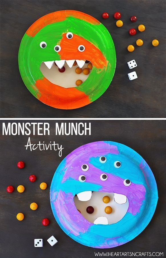 Monster Munch Activity.  Fun and easy craft that also works on those fine motor skills.