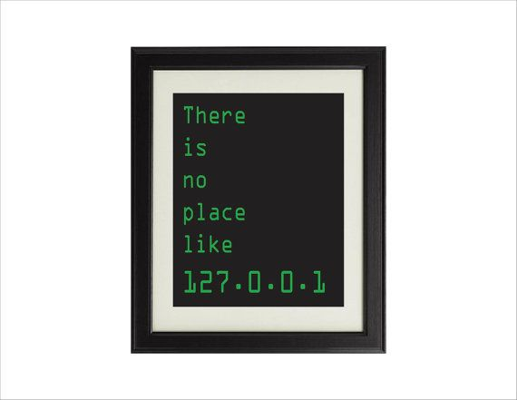 geek office decor. There Is No Place Like 127.0.0.1 Digital Art Print For Geeks And Computer Lovers, Office Gallery Wall, Coding Programming Geek Decor D