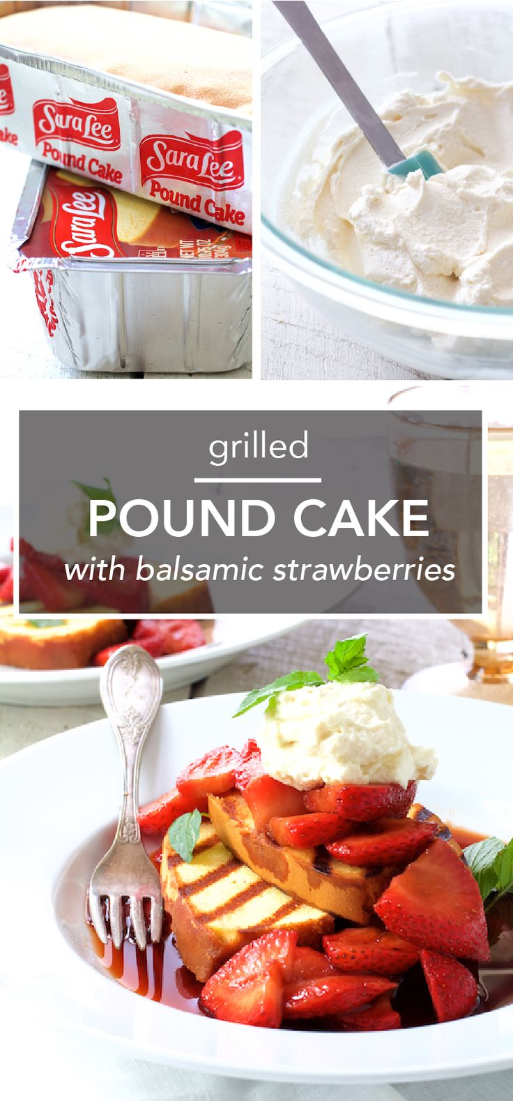 You've got your appetizers, entree, and sides set for your summer grill-out, now all that's left is to find the perfect dessert. Thanks to this recipe for Grilled Sara Lee Pound Cake with Balsamic Strawberries and Mascarpone Cream, you don't have to turn off the barbecue to make this sensational sweet treat! Plus, you'll love that you can pick up all the ingredients you need for this spin on strawberry shortcake at Kroger.
