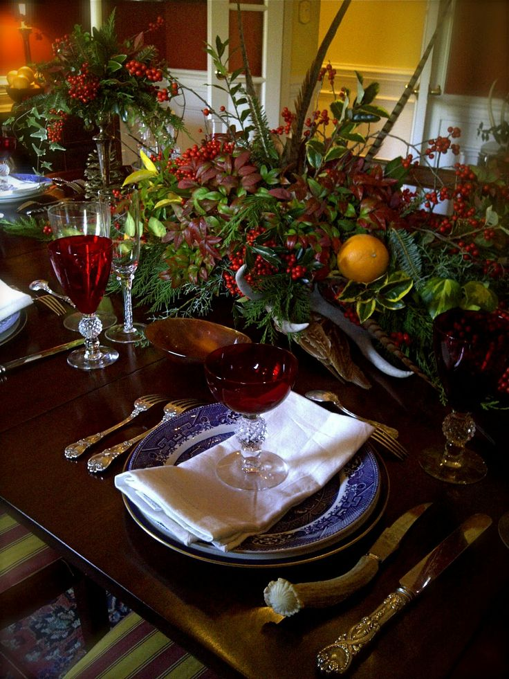 214 Best Holiday Tablescapes Images On Pinterest
