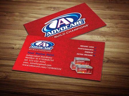Advocare Business Card Design 1 Marketing Business Cards