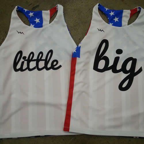 Big Little Pinnies - Custom Sorority Pinnies - American Flag Pinnies
