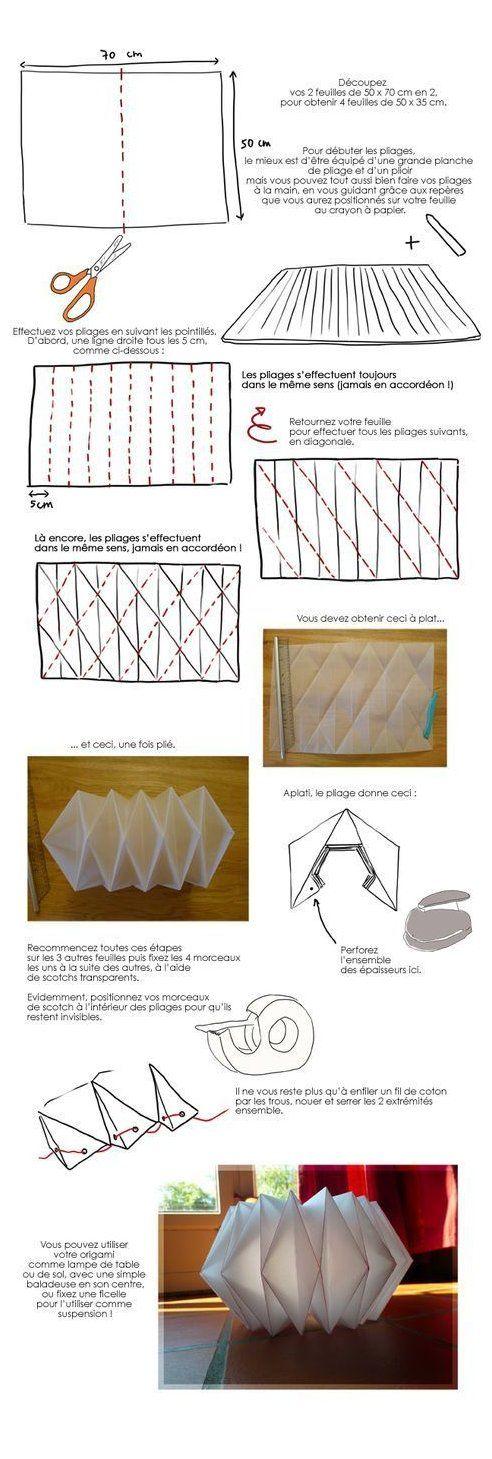 Origami Design, Origami Simple, Origami Lampshade, Instruções Origami, Origami Frog, Origami And Kirigami, Useful Origami, Flower Lampshade, Origami Lantern