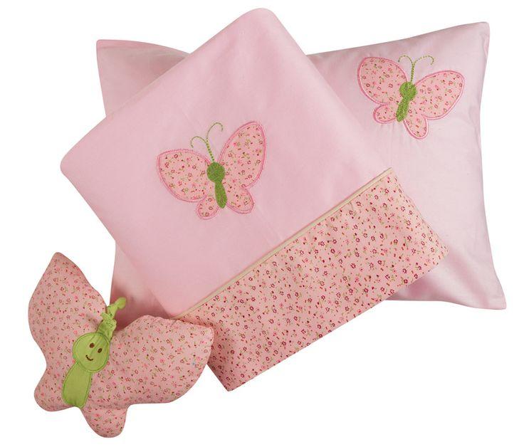 Σετ σεντόνια Baby Line Embroidery - Pink (Ροζ) - Das Baby