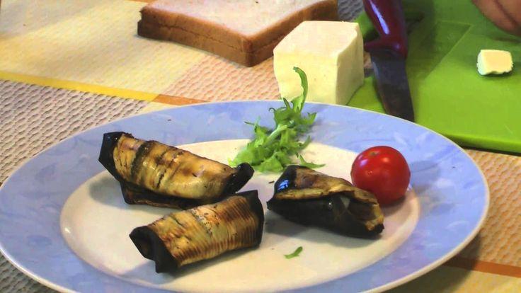 Простые рецеты итальянской кухни. Рулетики из баклажан.