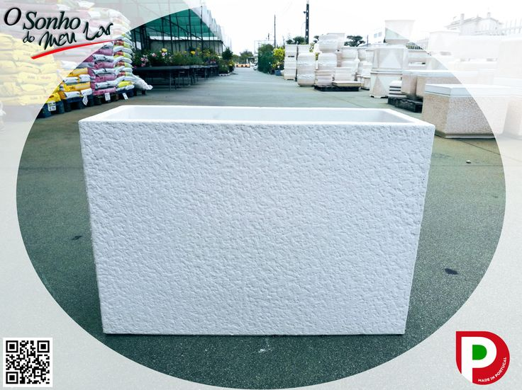 FLOREIRA ALTA TEXTURA BRANCO (cimento branco) medida: C 60 x L 25 x A 43