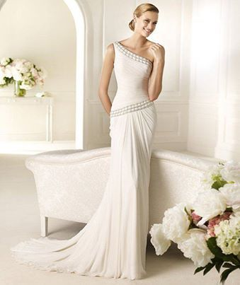Hermoso y sencillo vestido de novia