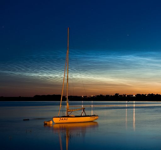 Noctilucent clouds near Szubin, Poland. via SpaceWeather.com --