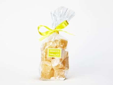 Our Authentic Lemon Turkish Delight (Lokum) are lower in sugar and richer in natural flavour.  Suitable for Vegans, vegetarians and for those who have kosher or halal dietary requirements.