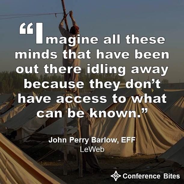 John Perry Barlow at LeWeb