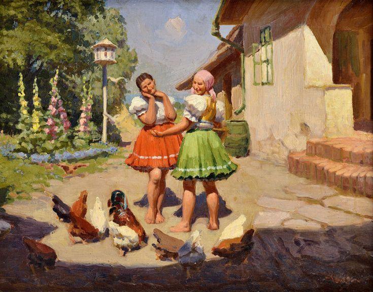 Teodor Jozef MOUSSON  Dve ženy na dvore