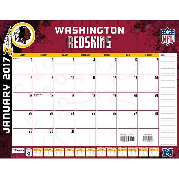 "Washington Redskins 22"" x 17"" Desk Calendar"