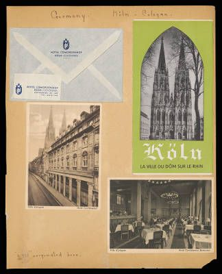 Althea Hurst scrapbook, 1938. Cologne (Germany)