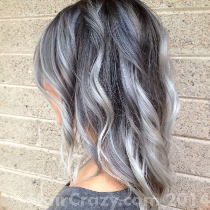 Ash Grey Ombre Hair Google Search Frisuren Pinterest