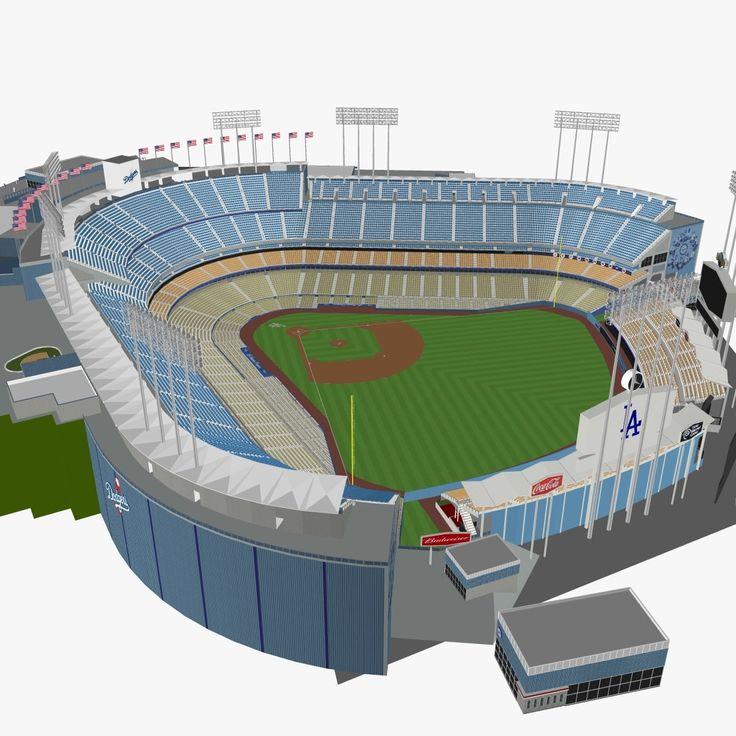 3Ds Dodger Stadium Seats - 3D Model
