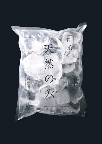 Japanese packaging for Natural Ice of Nikko