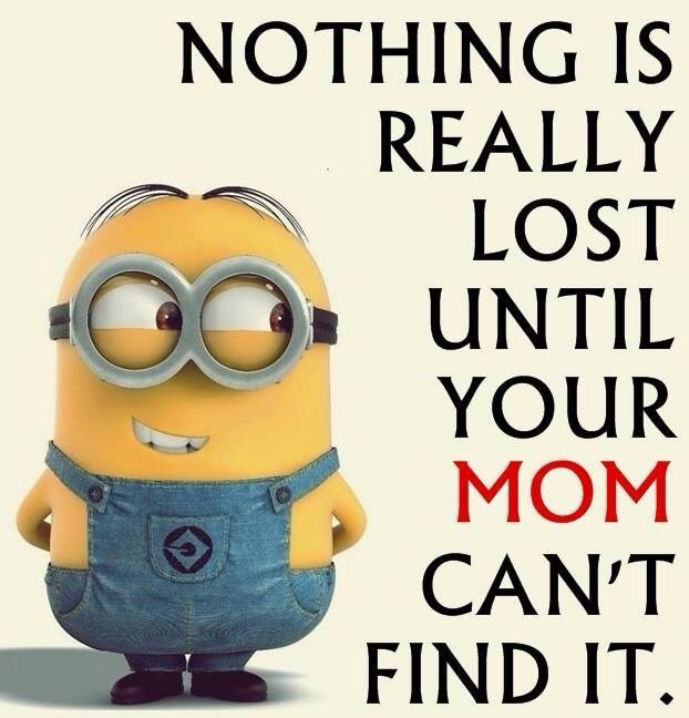 Nothing is lost until Mom can't find it.